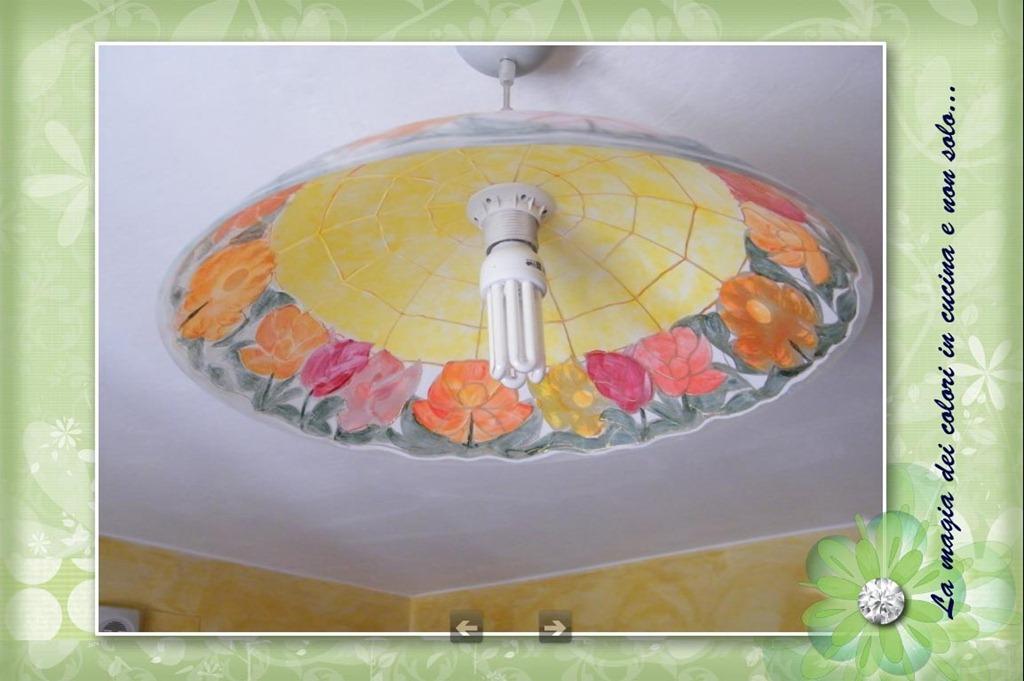 ero mi sono messa anche a colorare il lampadario che ho in cucina ...