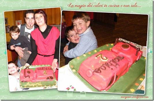 torta moto famiglia