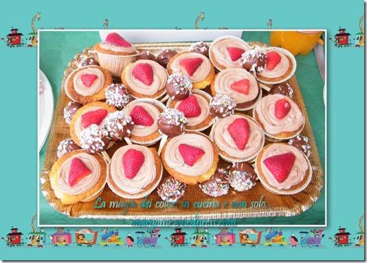 cupcake vaniglia fragole e cioccolata