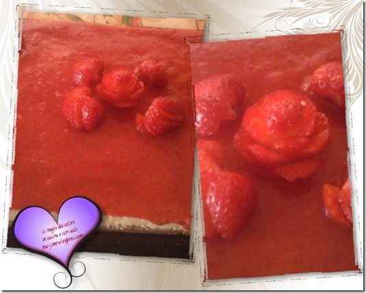 cheesecake fragole decorate
