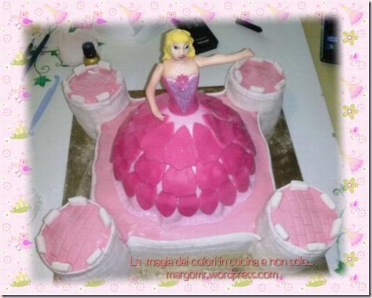 torta barbie da sopra