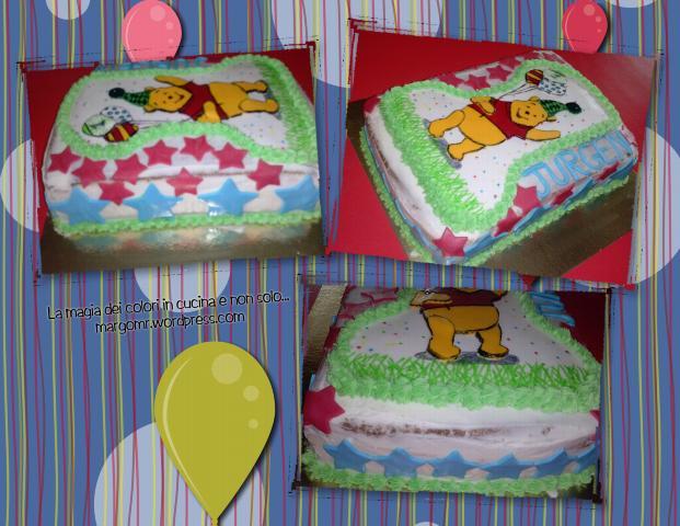 Torta primo compleanno winnie pooh 2 la magia dei colori - Cucina winnie the pooh ...