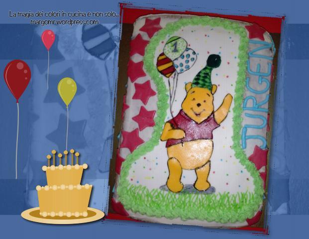 torta primo compleanno winnie pooh