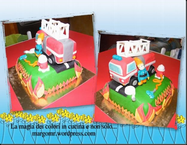 camion dei pompieri in pasta di zucchero 2