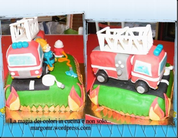 camion dei pompieri in pasta di zucchero 3