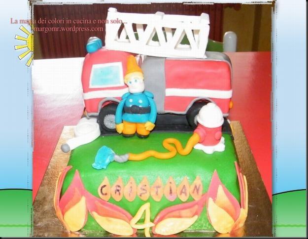 torta camion dei pompieri 1