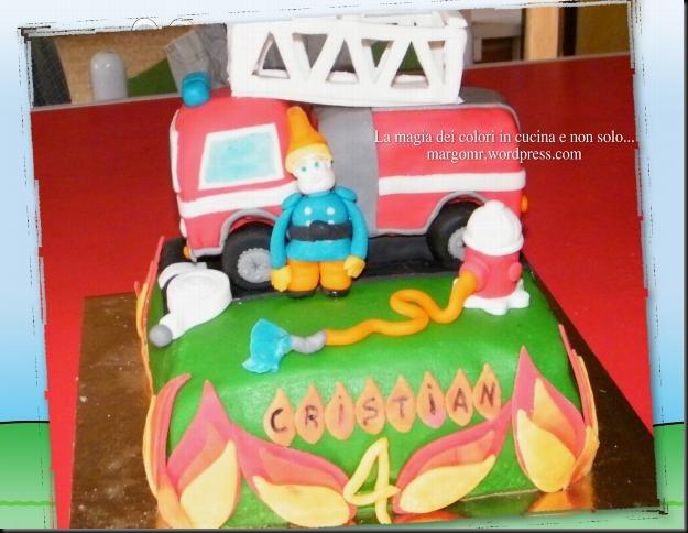 torta camion dei pompieri