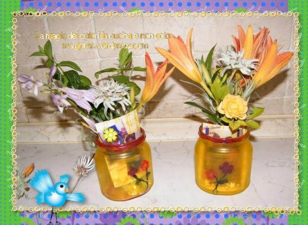 vaso di nutella porta fiori 1