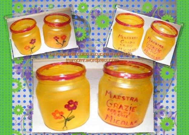 vaso di nutella porta fiori 2