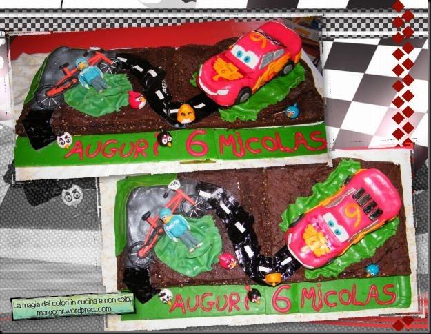 torta cars mattia furlan angry birds 3