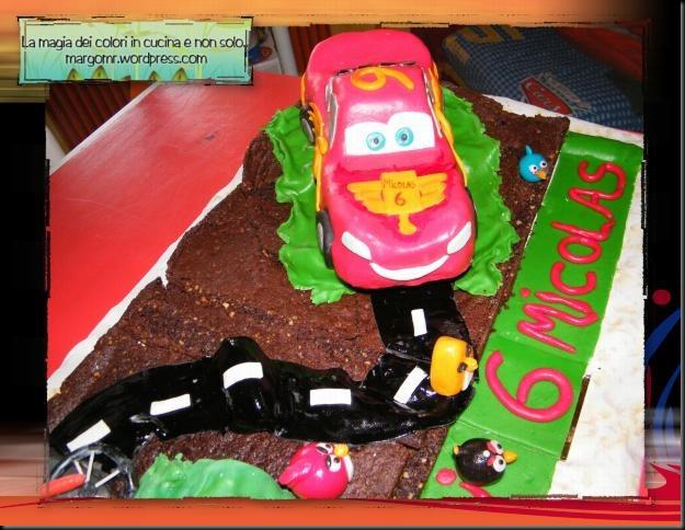 torta cars mattia furlan angry birds dettaglio cars saetta mcqueen2