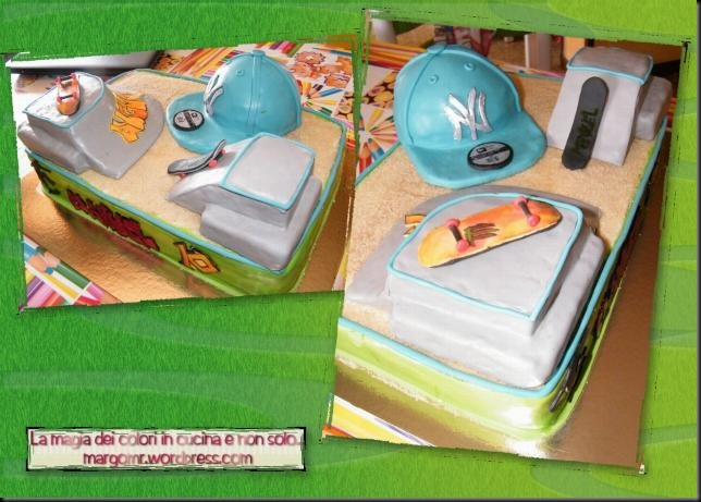 torta skateboard con capellino ny nvarie angolazioni 2
