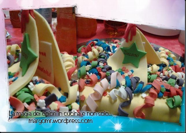 torta biglietto carnevale delfini 3