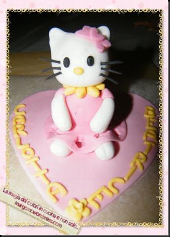 hello kitty in pasta di zucchero
