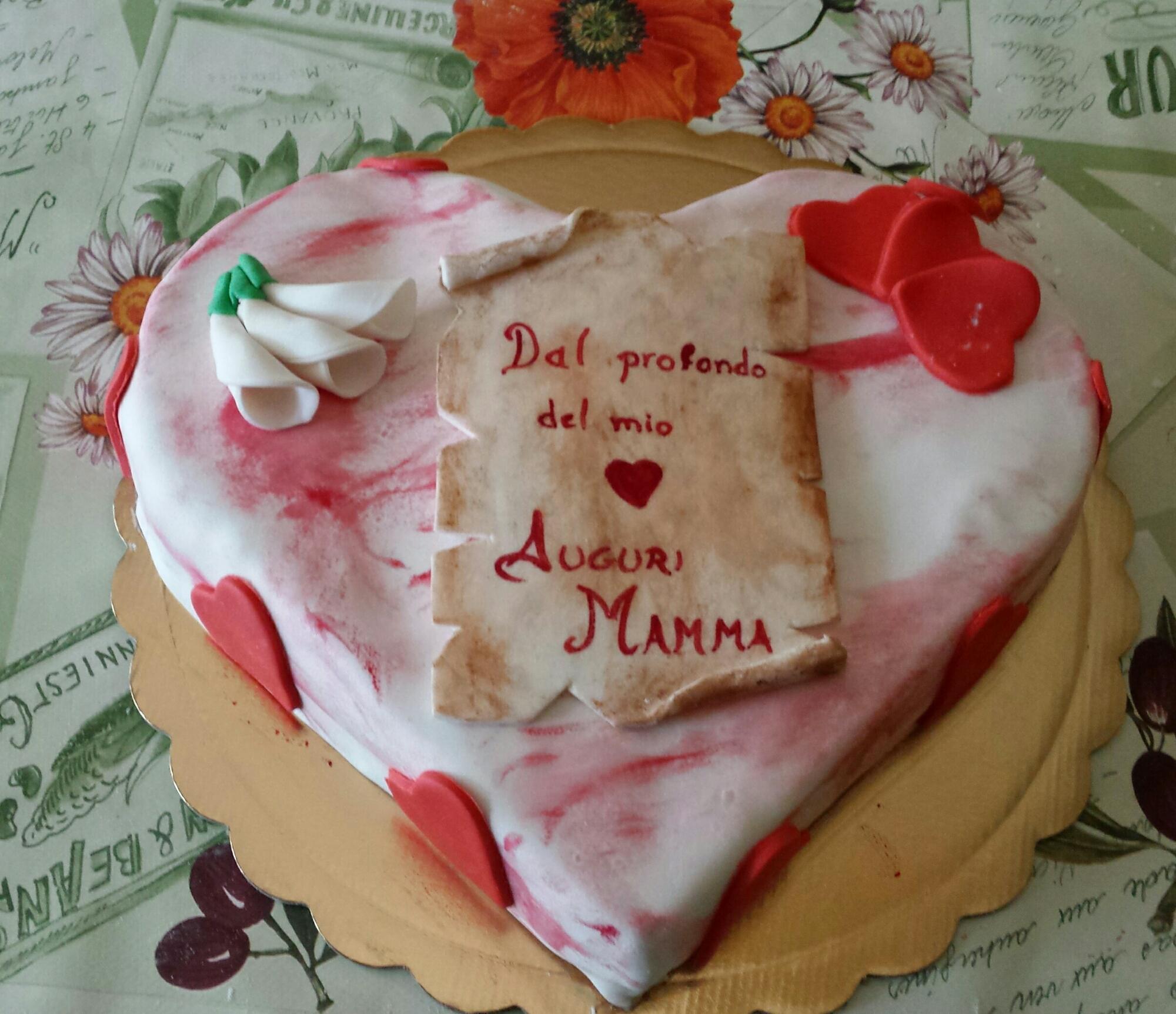 Favorito Torta cuore per la festa della mamma | La magia dei colori in  HE67